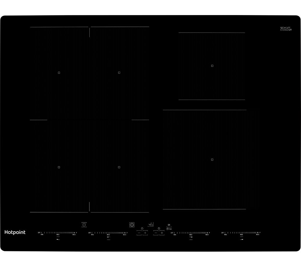 HOTPOINT ACO 654 NE Electric Induction Hob - Black, Black