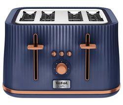 TEFAL Loft TT760440 4-Slice Toaster - Blue & Rose Gold