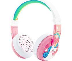 ONANOFF BuddyPhone Wave Wireless Bluetooth Kids Headphones - Pink Unicorn