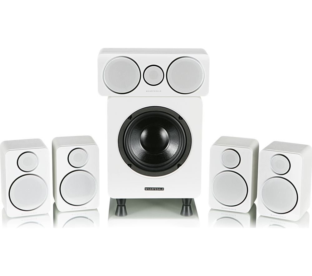 Image of DX-2HCP 5.1 Speaker System - White, White