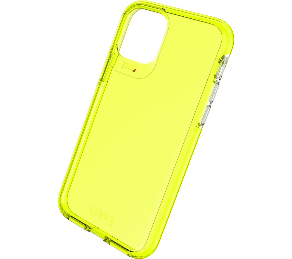 Image of Crystal Palace iPhone 11 Pro Clear View Case - Neon Yellow, Neon