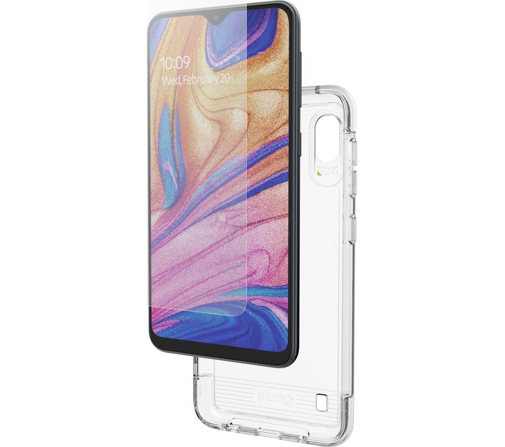 GEAR4 Samsung Galaxy A10 Case and Invisible Shield Glass - Clear