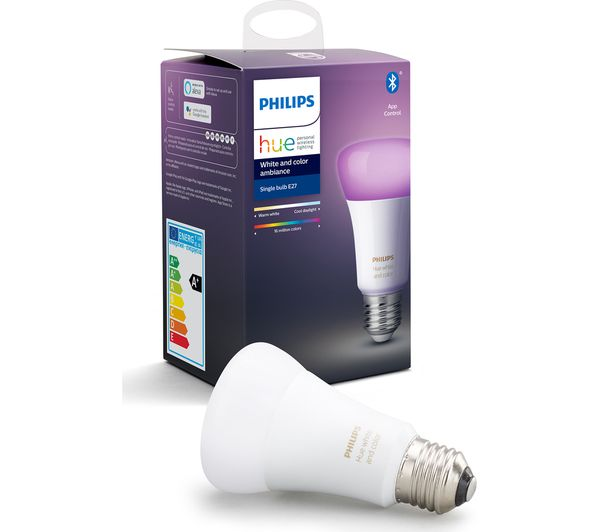 Image of PHILIPS HUE White & Colour Ambiance Bluetooth LED Bulb - E27