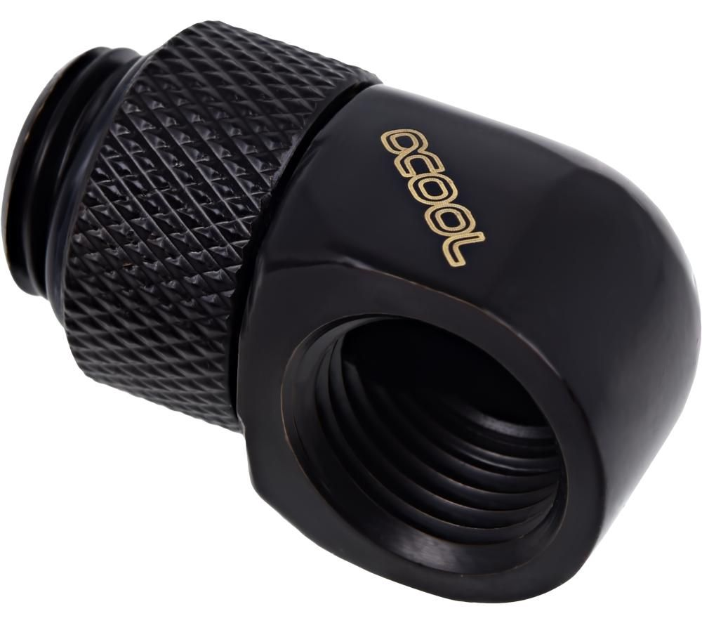 ALPHACOOL Icicle 90 Degree Angled Rotary Fitting - Black