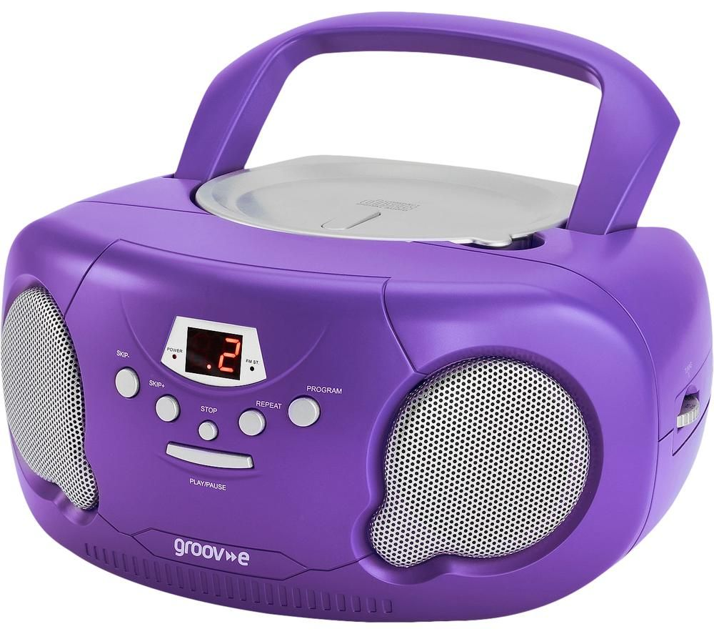 GROOV-E Original Boombox GV-PS733 Portable FM/AM Boombox - Purple, Purple