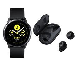 Galaxy Watch Active & Galaxy Buds Bundle - Black
