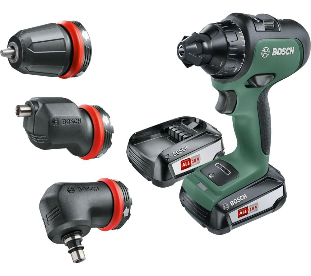 BOSCH AdvancedDrill 18 Cordless 2-Speed Combi Drill with 2 Batteries - Green & Black, Green
