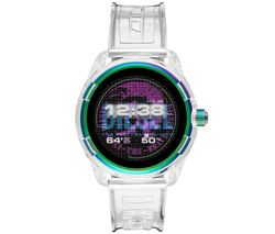 Image of DIESEL Fadelite DZT2021 Smartwatch - Transparent, Plastic Strap, 43 mm