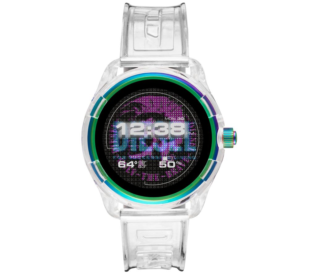 Image of DIESEL Fadelite DZT2021 Smartwatch - Transparent, Plastic Strap, 43 mm, Transparent