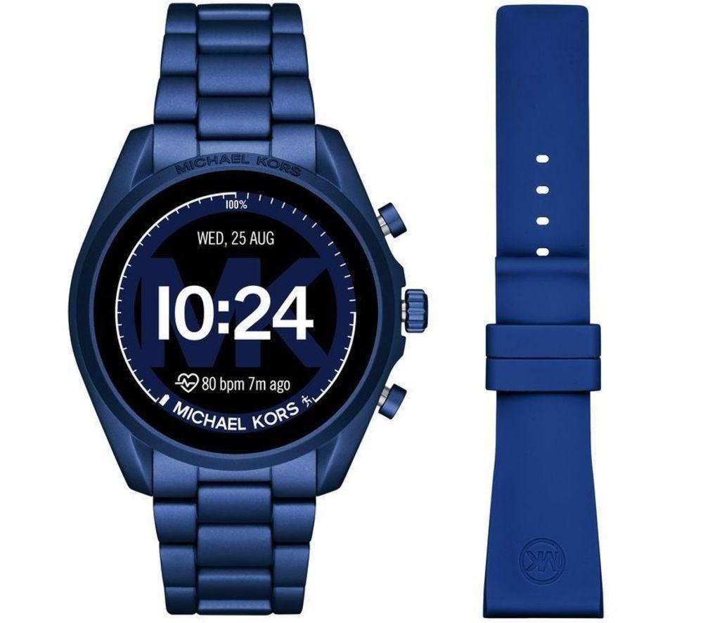 MICHAEL KORS Access Bradshaw 2 MKT5102 Smartwatch - Blue, Aluminium Strap, 44 mm