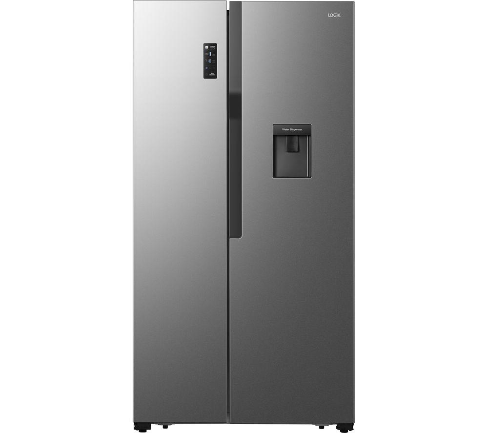 LOGIK LSBSDX20 American-Style Fridge Freezer - Inox