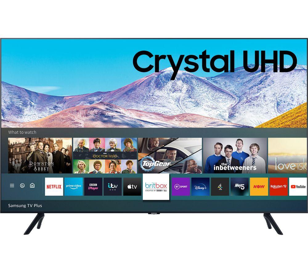 "75"" samsung ue75tu8000kxxu  smart 4k ultra hd hdr led tv with bixby, alexa & google assistant"