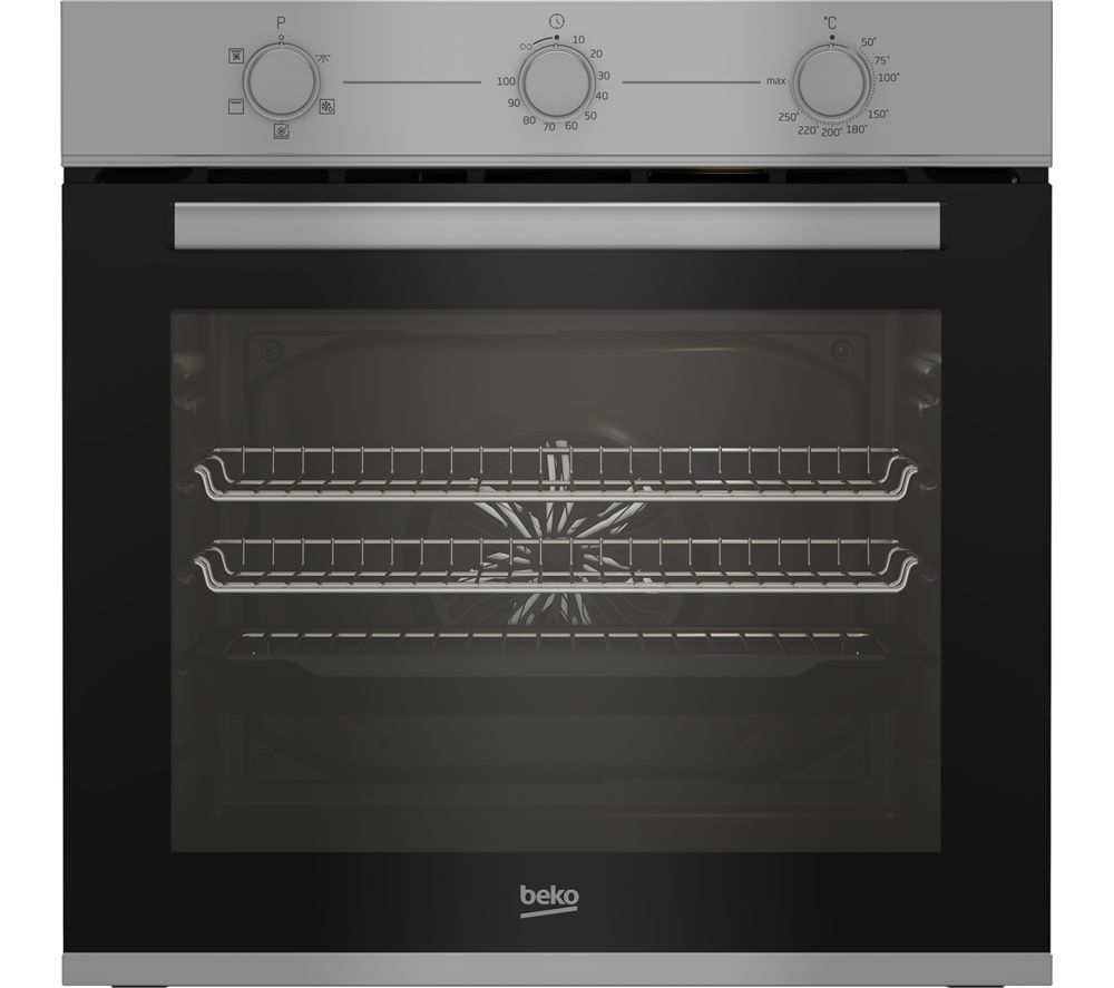 Image of BEKO BBXIF22100S Electric Oven - Silver, Silver