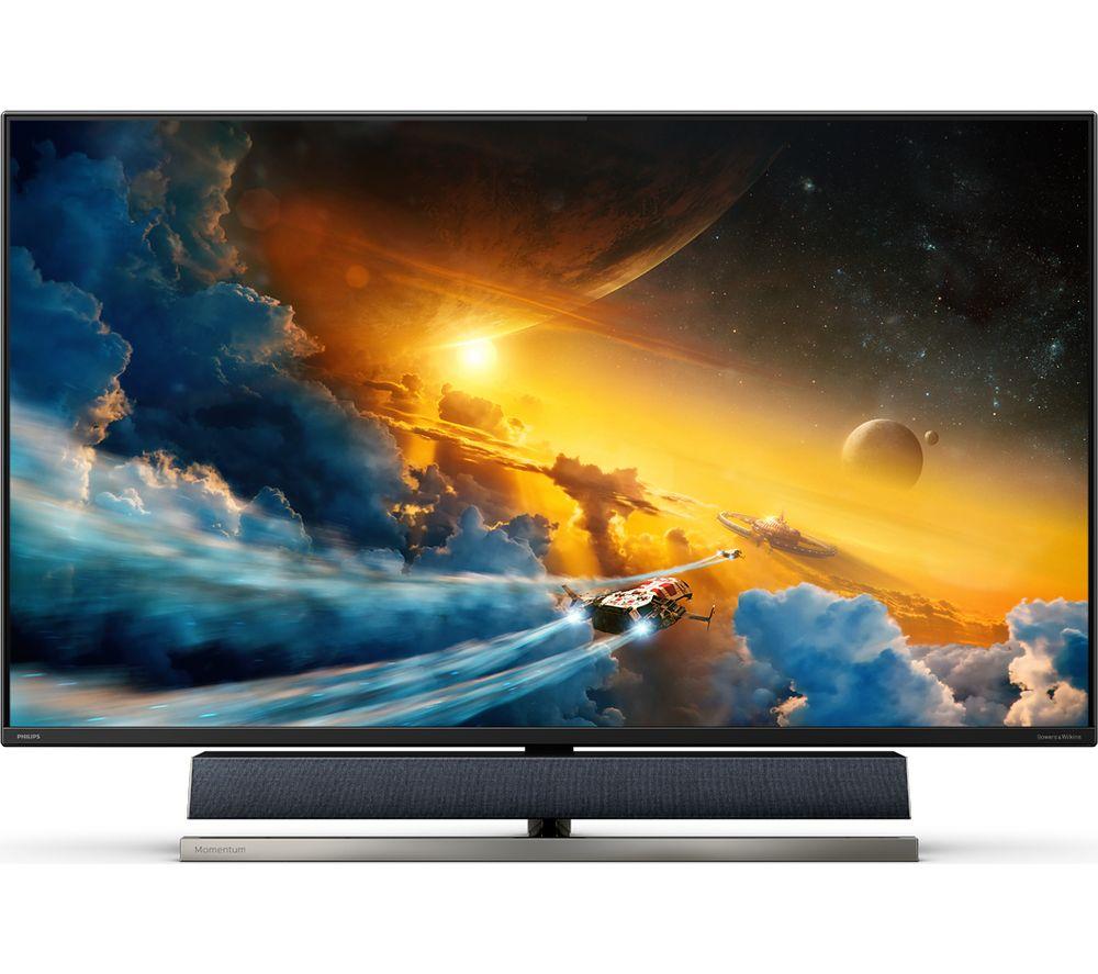 "PHILIPS 558M1RY 4K Ultra HD 55"" VA LCD Gaming Monitor - Black"