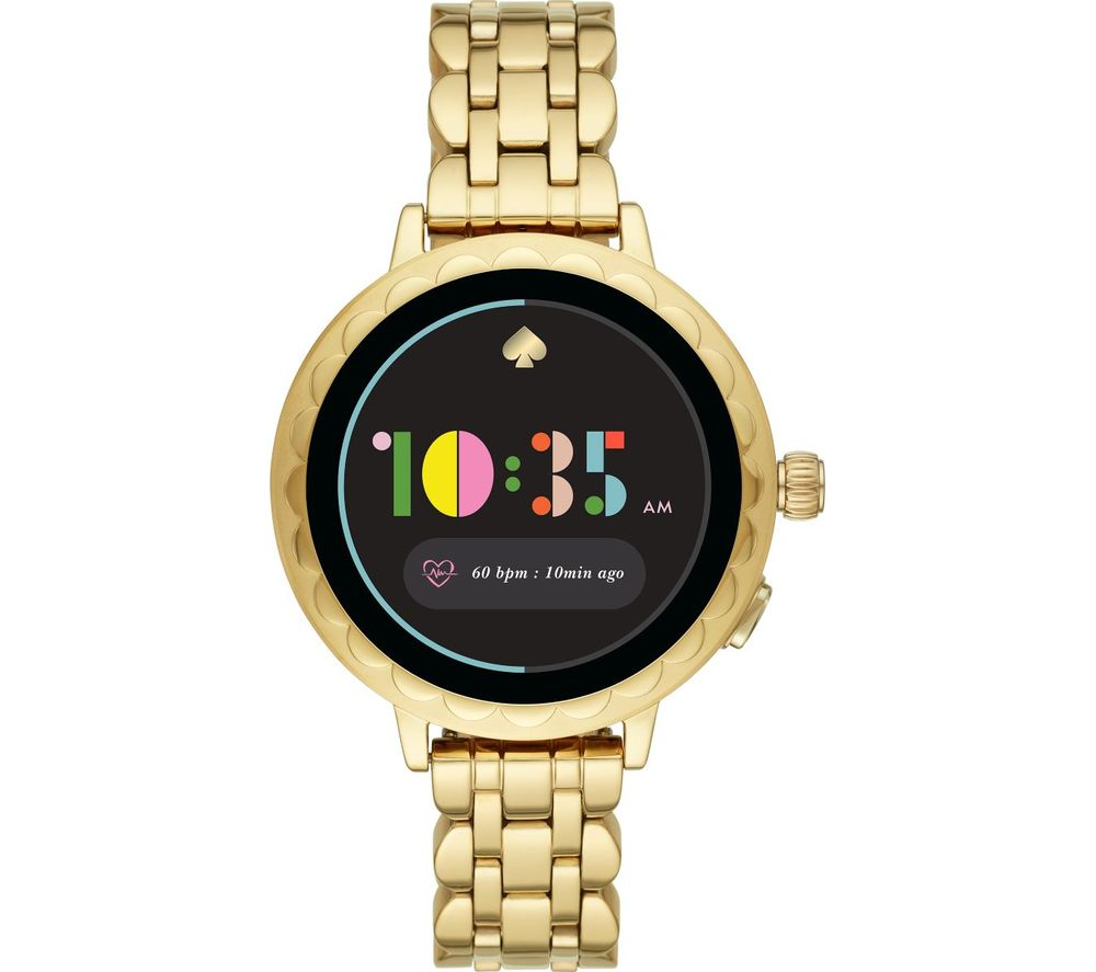 Image of KATE SPADE Scallop 2 KST2014 Smartwatch - Gold, Stainless Steel Strap, 42 mm, Stainless Steel