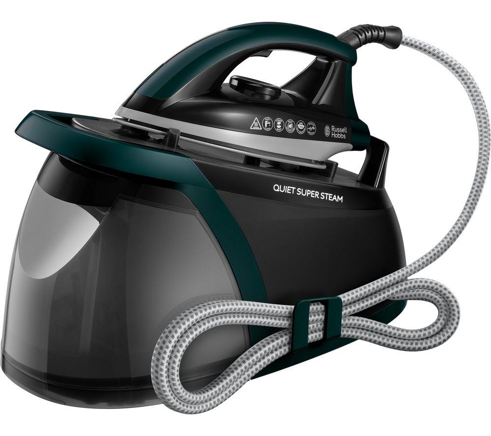 RUSSELL HOBBS Quiet Super 24450 Steam Generator Iron - Green & Black
