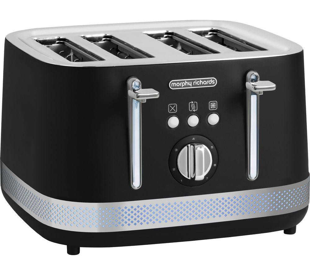 MORPHY RICHARDS Illumination 248020 4-Slice Toaster - Black