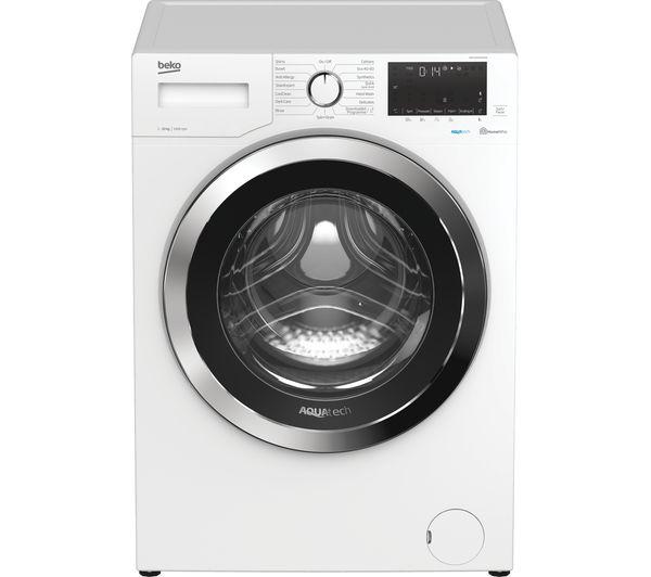 BEKO AquaTech WEX104064E0W Bluetooth 10 kg 1400 Spin Washing Machine - White
