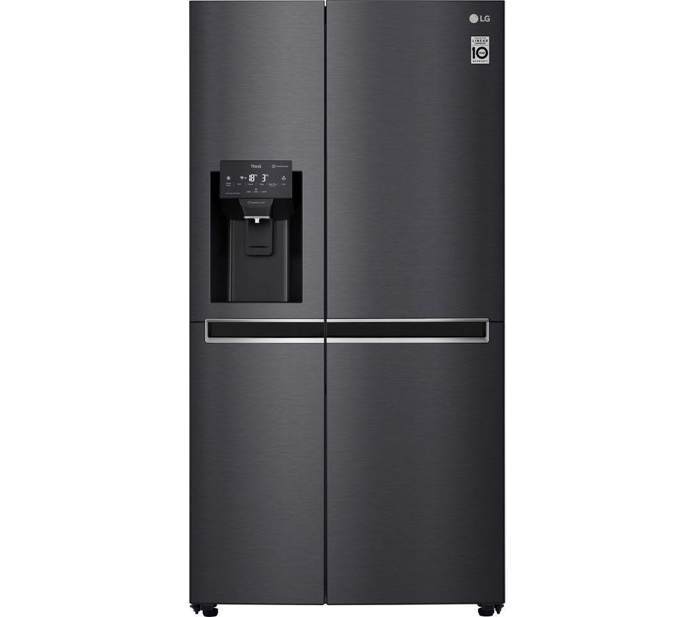 LG GSL760MCKV American-Style Smart Fridge Freezer - Black, Black