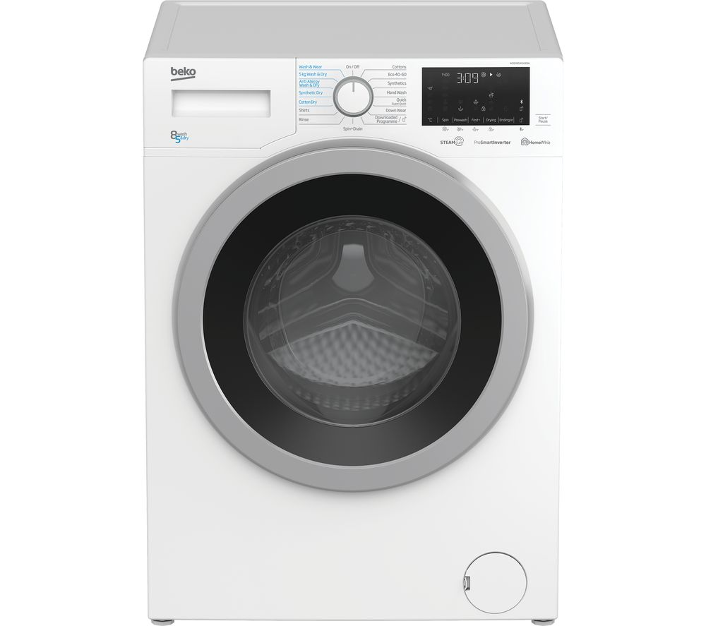 BEKO WDEX8540430W Bluetooth 8 kg Washer Dryer - White
