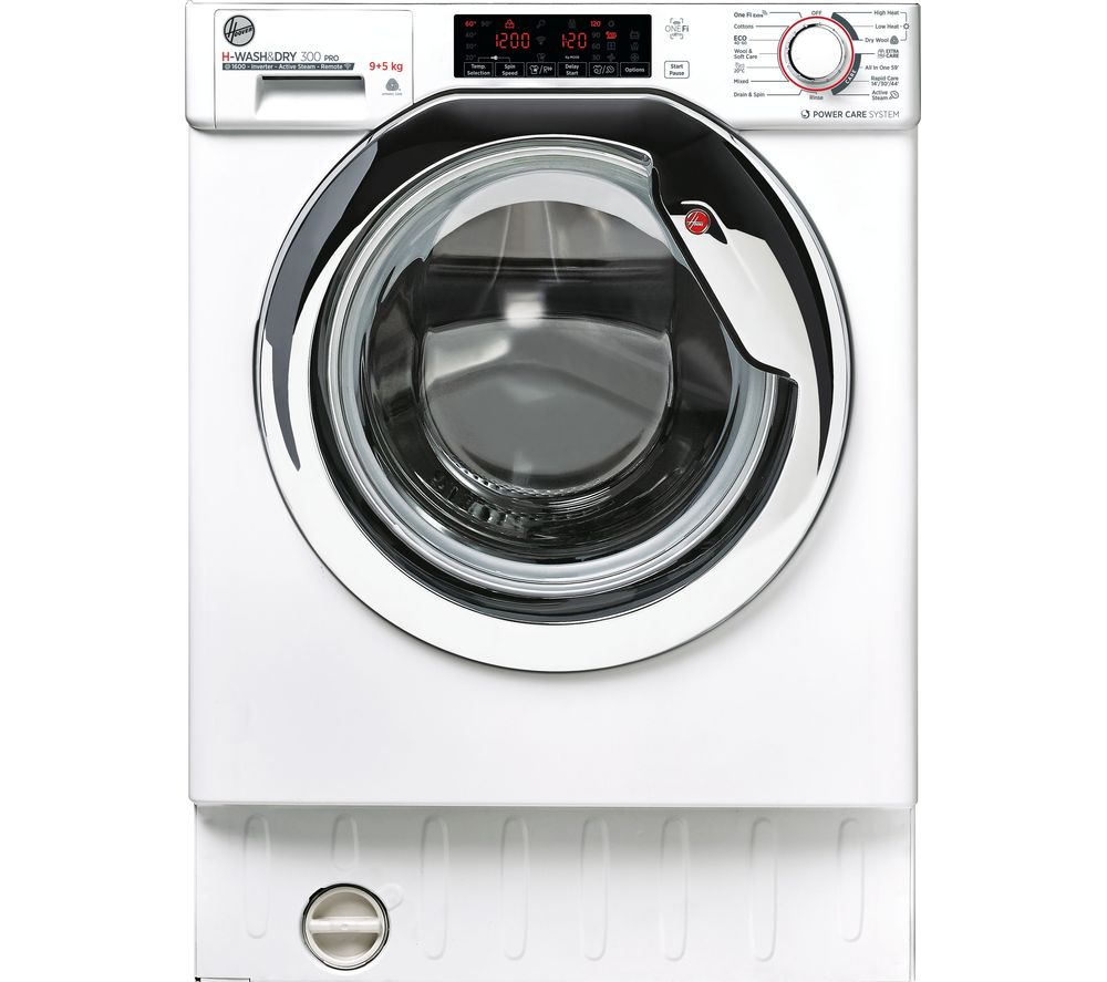 HOOVER H-WASH 300 Pro HBDOS695TAMCET WiFi-enabled Integrated 9 kg Washer Dryer - White, White