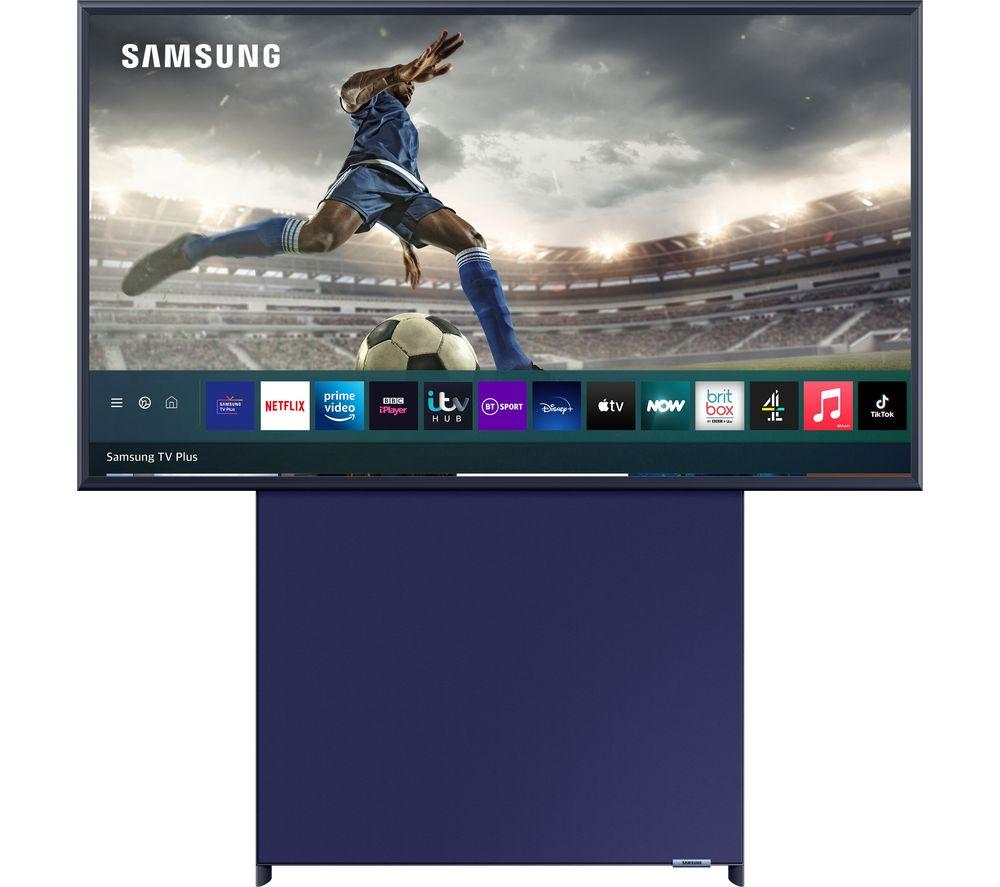 "SAMSUNG The Sero QE43LS05TAUXXU 43"" Smart 4K Ultra HD HDR QLED TV with Bixby, Alexa & Google Assistant - Navy Blue"