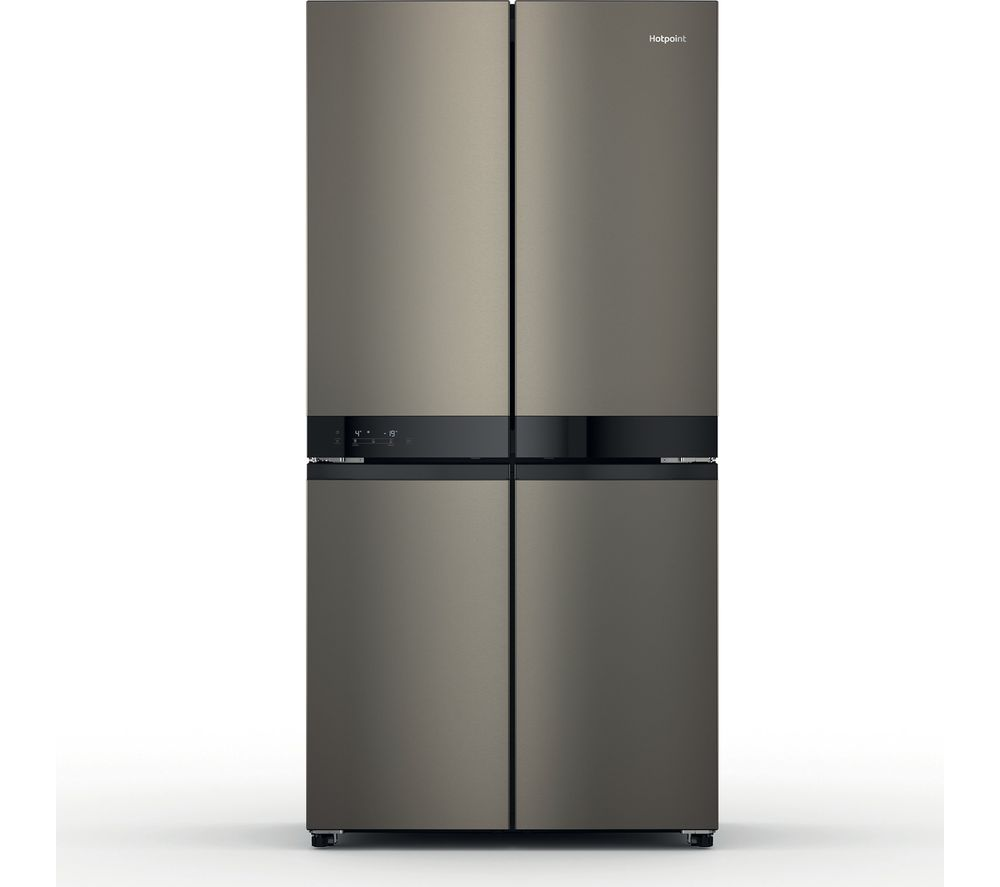 HOTPOINT HQ9 U1BL UK Fridge Freezer - Black & Inox