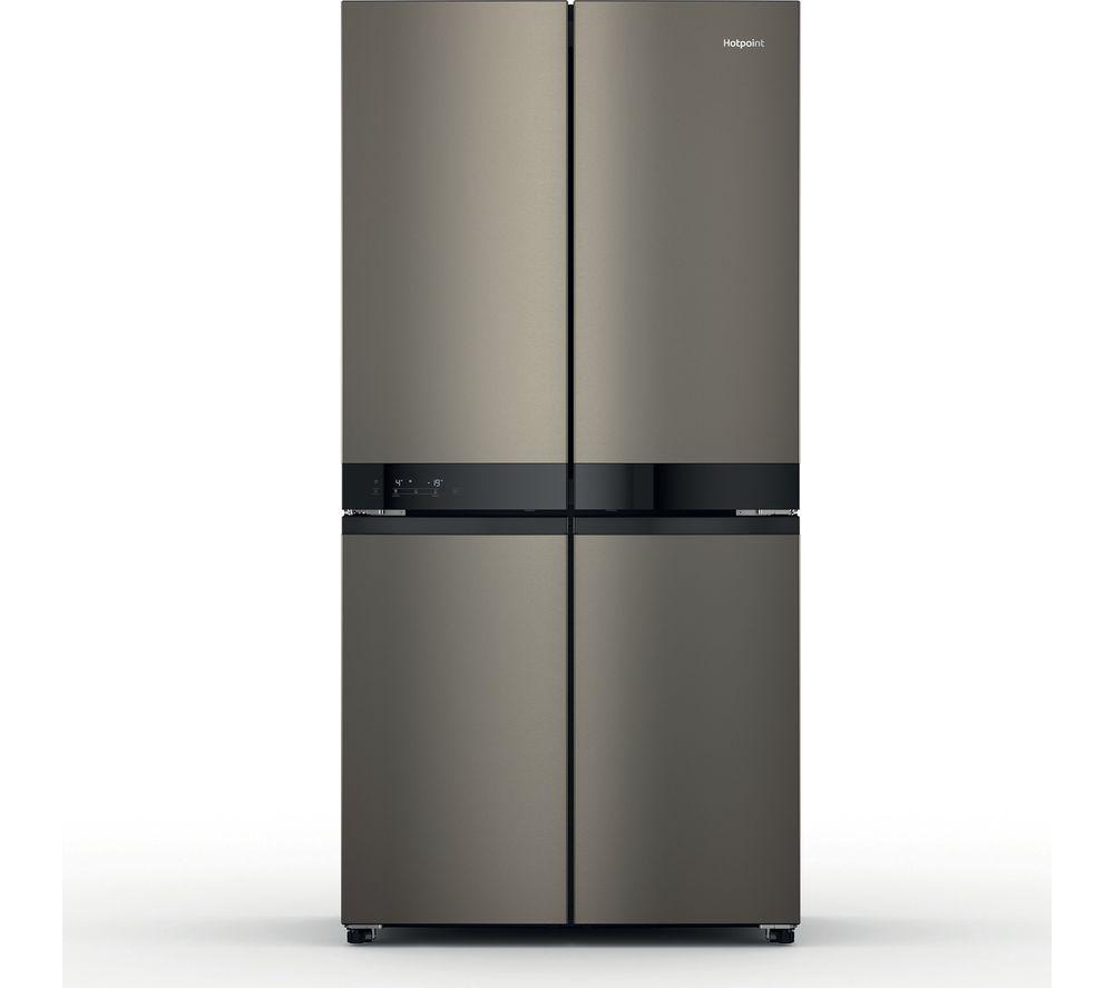 HOTPOINT HQ9 U1BL UK Fridge Freezer - Black & Inox, Black