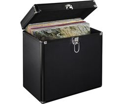 50 LP Vinyl Record LP Storage Case - Black