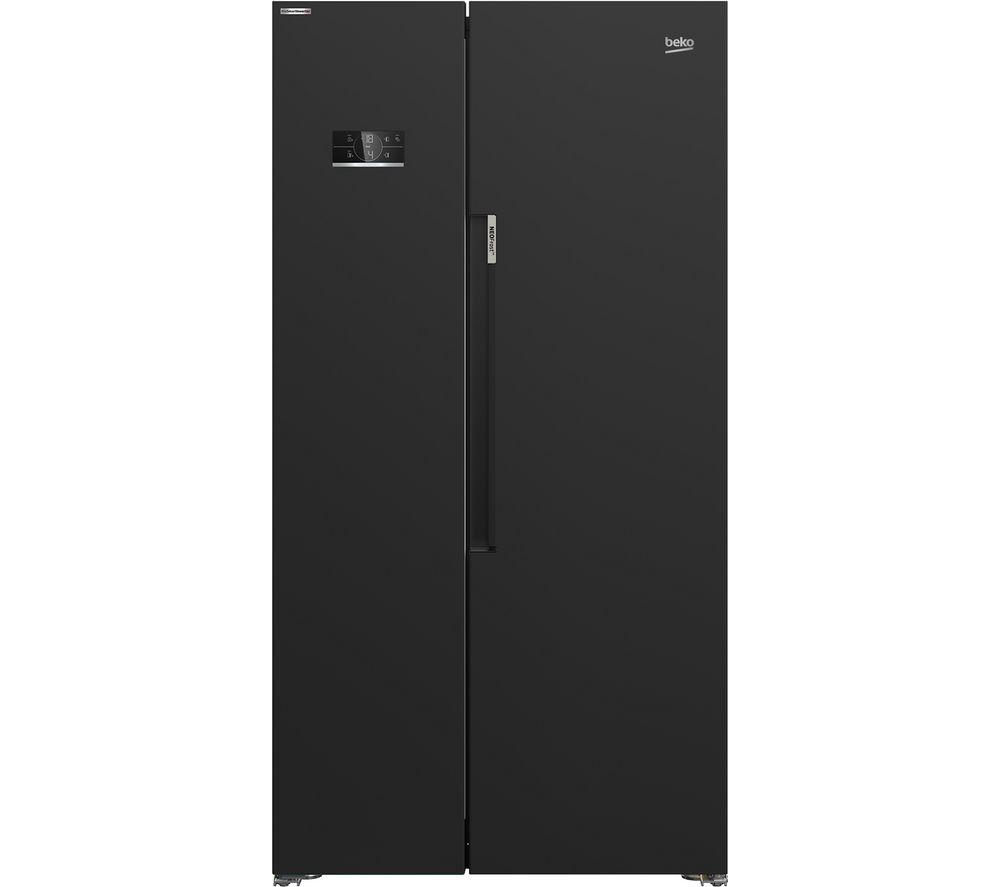 BEKO ASL1342B American-Style Fridge Freezer - Black