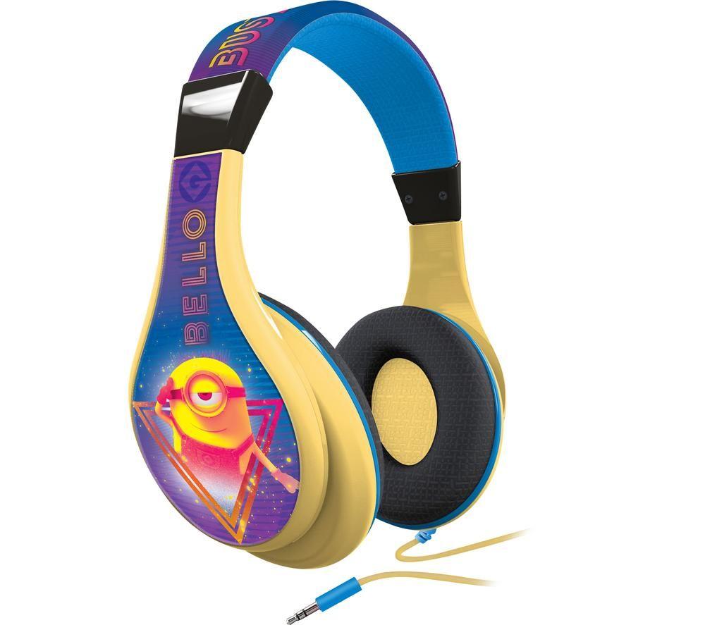 EKIDS One in a Minion MS-140 Kids Headphones - Blue & Yellow