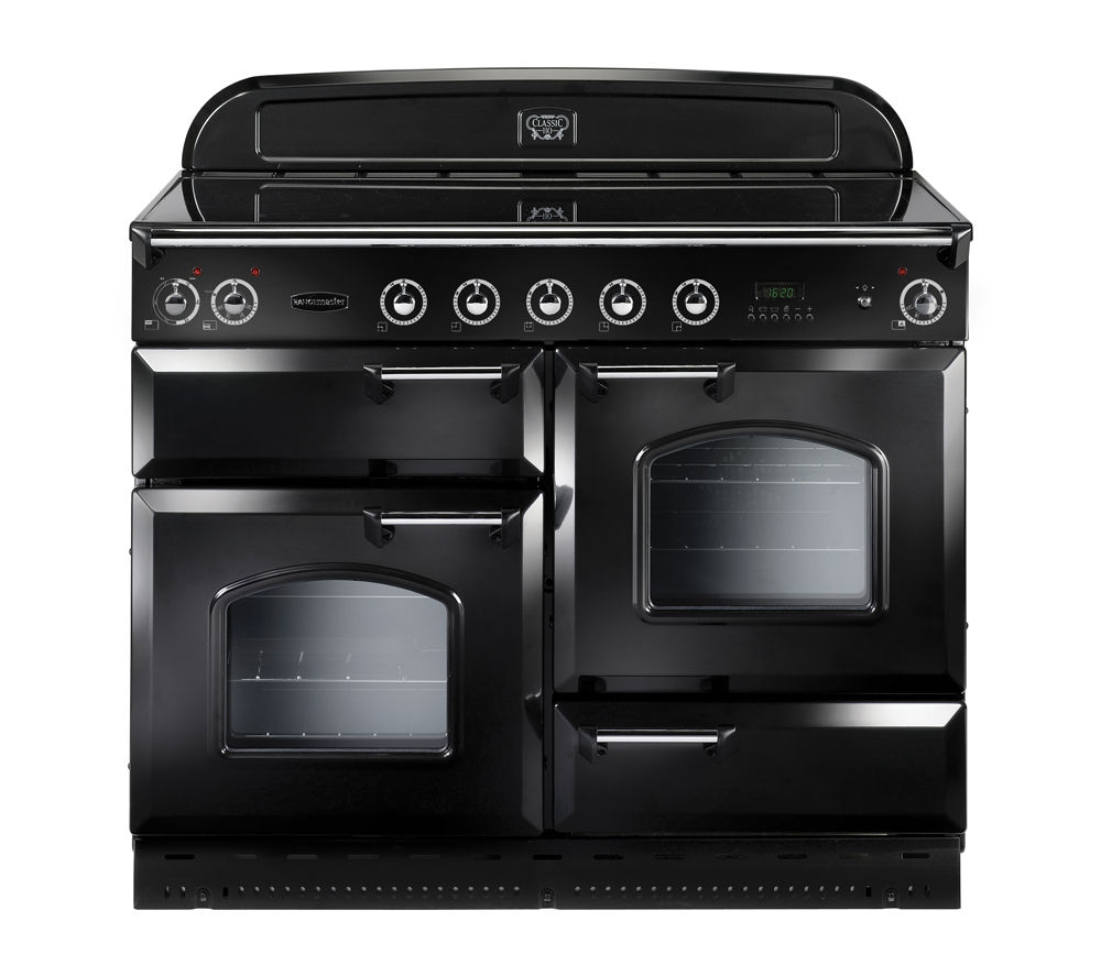RANGEMASTER Classic 110 Electric Induction Range Cooker - Black & Chrome
