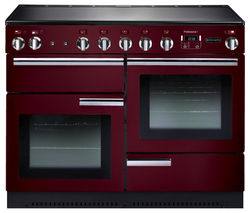 RANGEMASTER Professional+ 110 Electric Induction Range Cooker - Cranberry & Chrome Best Price, Cheapest Prices