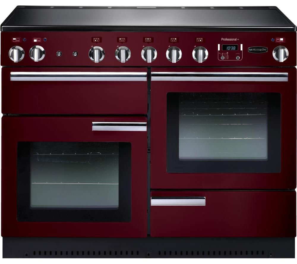 RANGEMASTER Professional+ 110 Electric Induction Range Cooker - Cranberry & Chrome