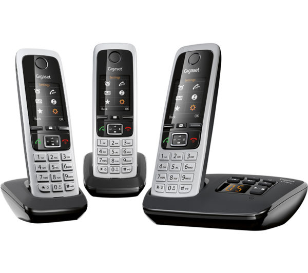 Image of GIGASET C430A Trio Cordless Phone with Answering Machine - Triple Handsets