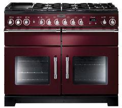 RANGEMASTER Excel 110 Dual Fuel Range Cooker - Cranberry & Chrome