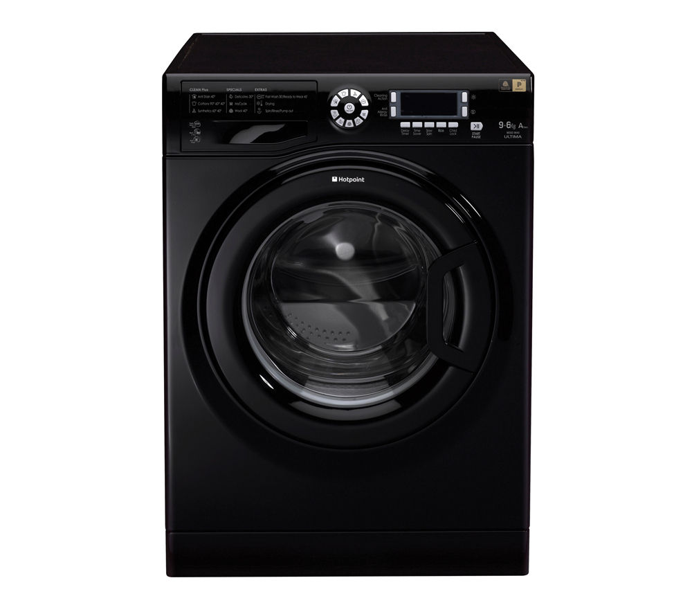 Cheap Washer Dryer Uk Part - 27: HOTPOINT WDUD9640K Washer Dryer - Black