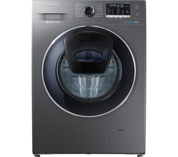 samsung addwash ww80k5410ux washing machine graphite graphite. Black Bedroom Furniture Sets. Home Design Ideas