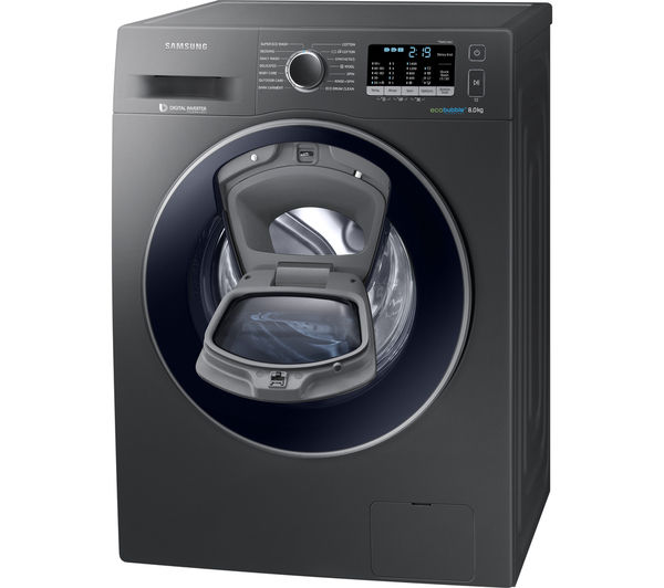 buy samsung addwash ww80k5410ux washing machine graphite. Black Bedroom Furniture Sets. Home Design Ideas