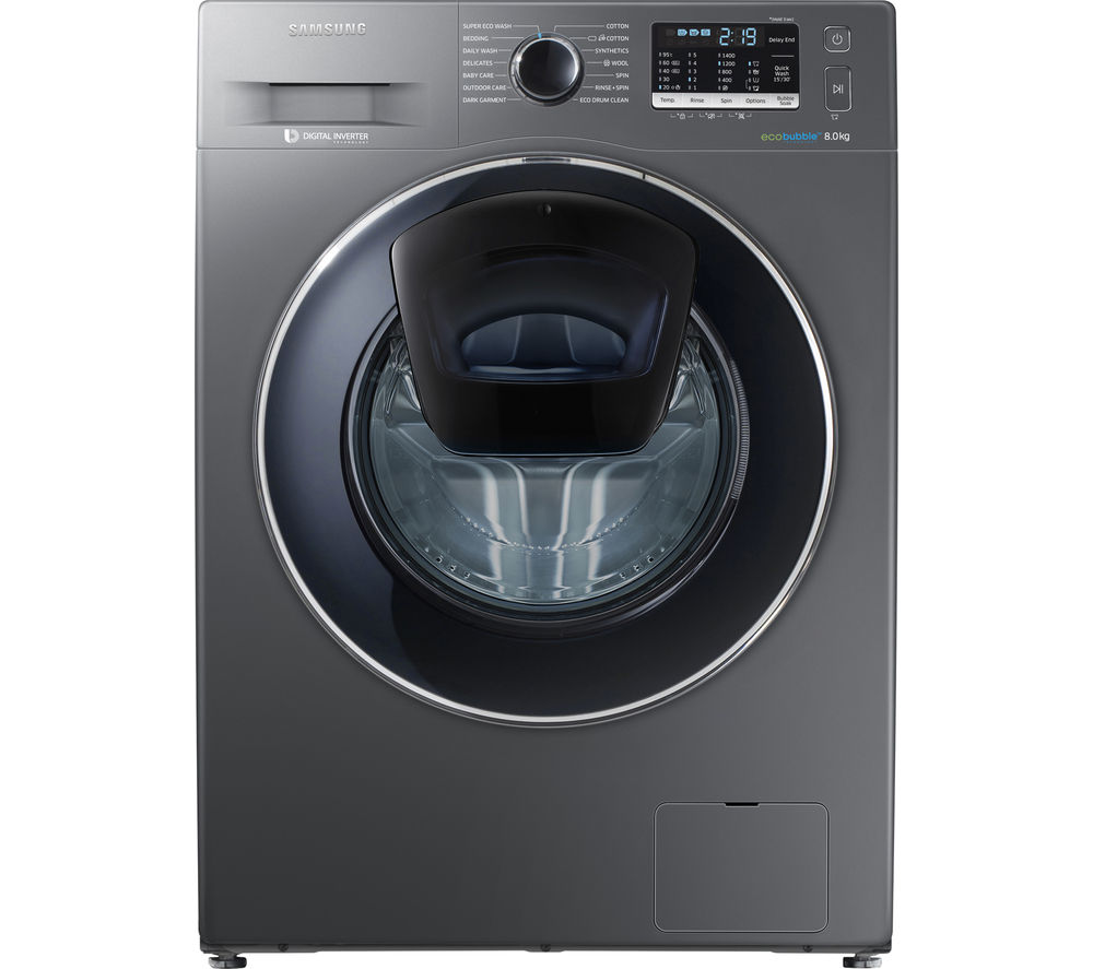 Samsung AddWash WW80K5410UX 8 kg 1400 Spin Washing Machine - Graphite, Graphite