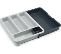 DrawerStore Cutlery Tray - Grey & White