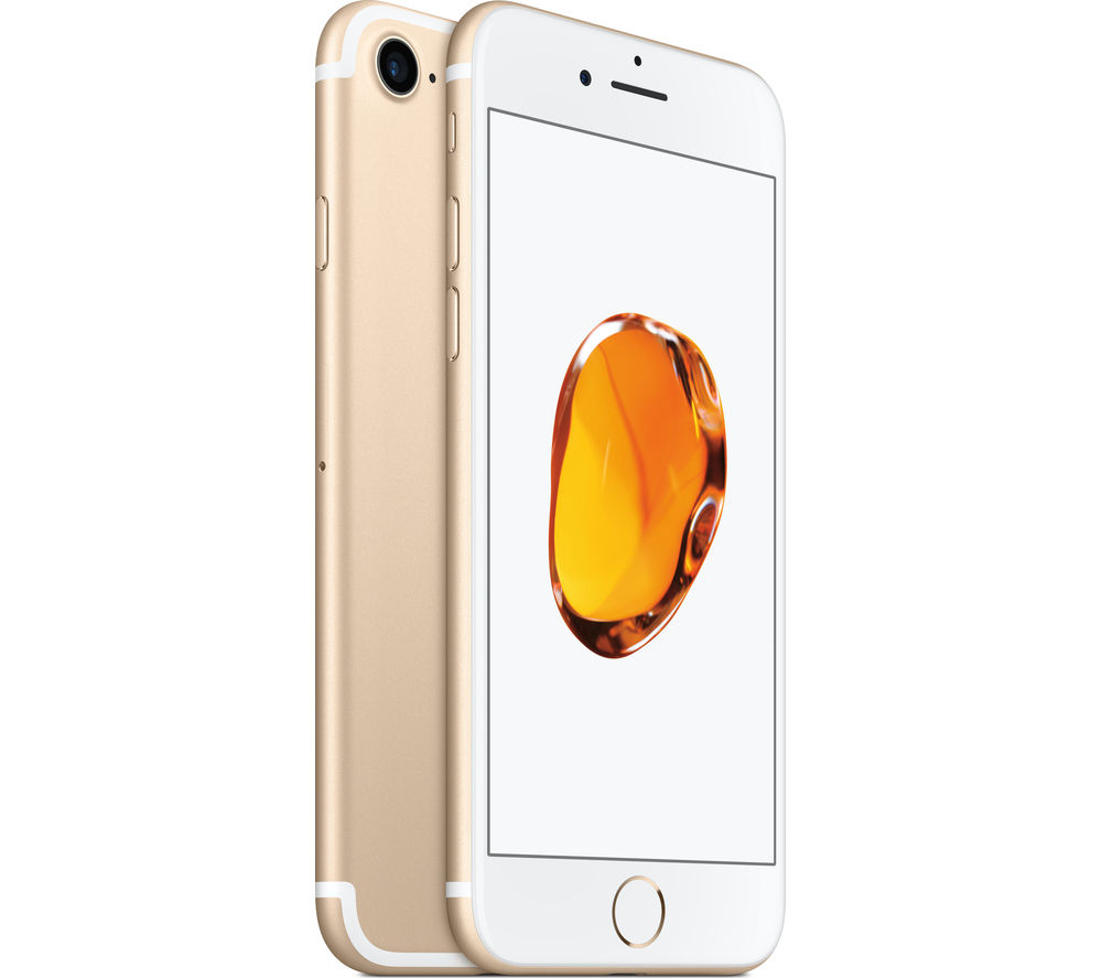 APPLE iPhone 7 - Gold, 256 GB + Lightning to USB Cable - 1 metre