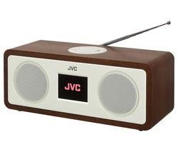 JVC RA-D77M DAB+/FM Bluetooth Radio - Wood & Cream