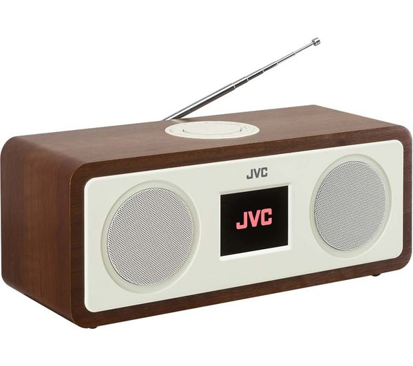 buy jvc ra d77m dab fm bluetooth clock radio wood. Black Bedroom Furniture Sets. Home Design Ideas