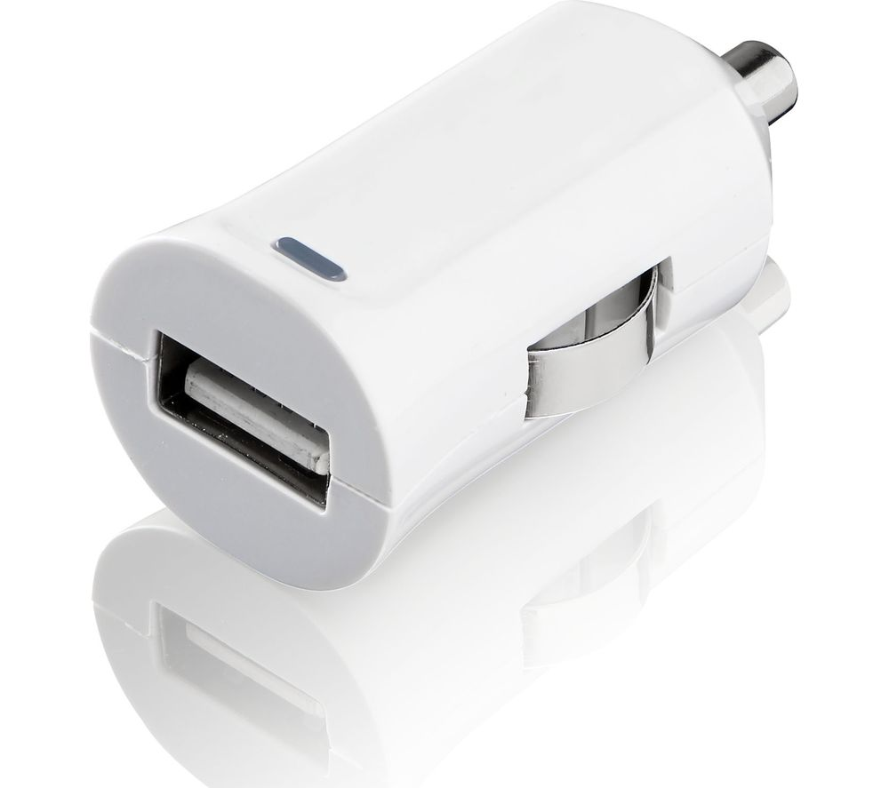 IWANTIT I24CLN17 2.4A Bullet Universal Car Charger with Detachable Lightning Cable - 1 m