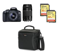 CANON EOS 1300D DSLR Camera with EF-S 18-55 mm f/3.5-5.6 III & EF 75-300 mm f/4-5.6 III Lens