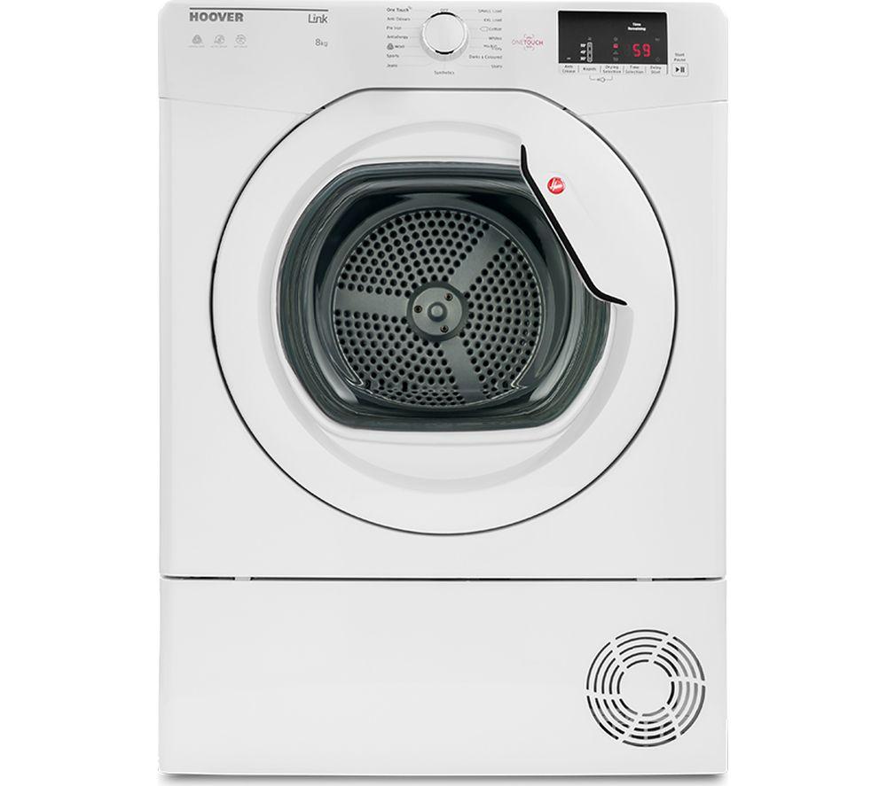 HOOVER Link HL C8DCG NFC 8 kg Condenser Tumble Dryer - White