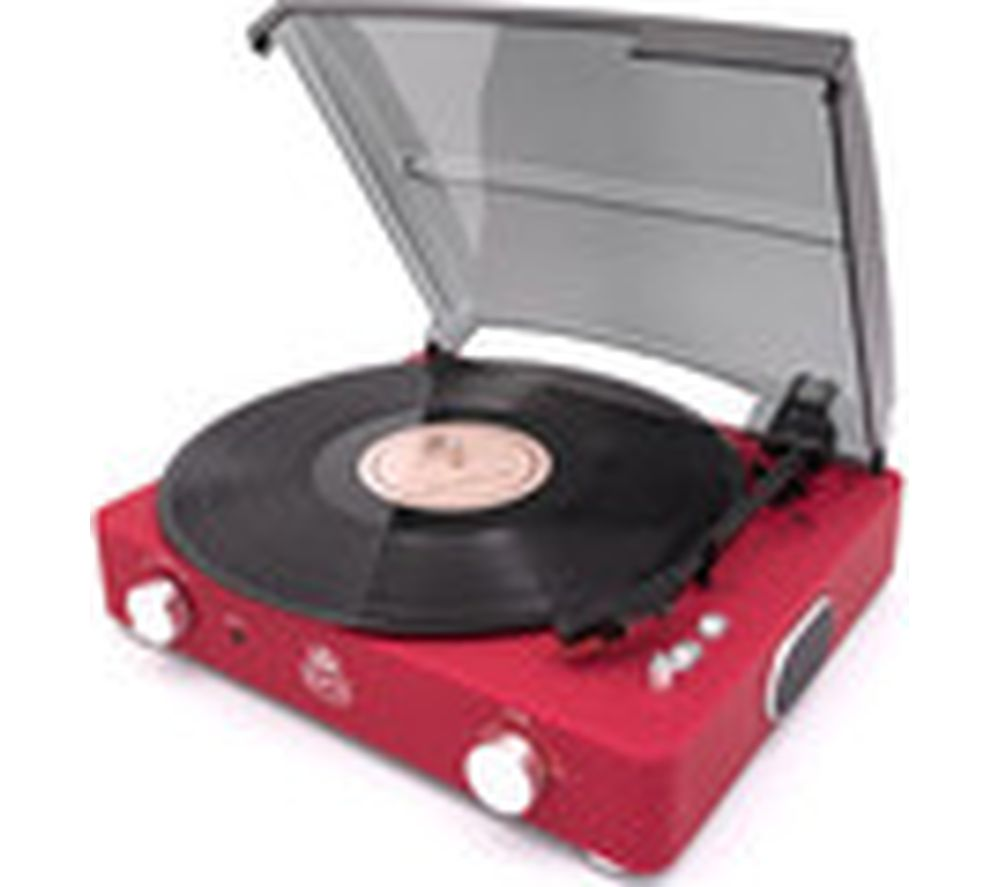 GPO Stylo II Turntable - Red, Red