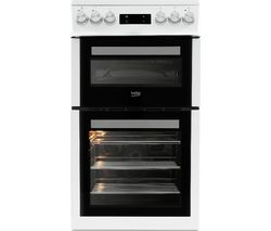 BEKO Pro XDVC5XNTW 50 cm Electric Cooker - White Best Price, Cheapest Prices