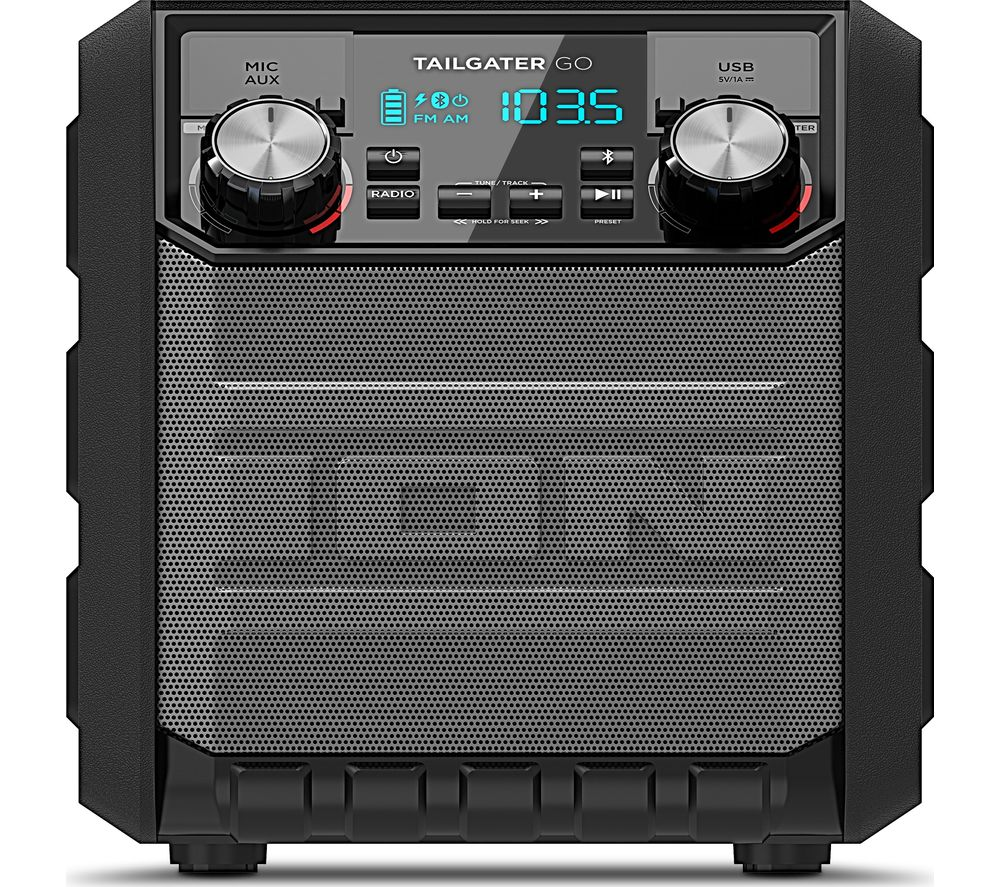 ION Tailgater Go Portable Bluetooth Wireless Speaker - Black